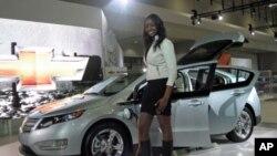 2011年华盛顿汽车展上的Chevy Volt