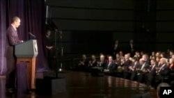 Predsjdnik Barack Obama na Sveučilištu George Washington 13. travnja 2011.