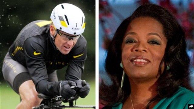 Lance Armstrong (kiri) dalam wawacara keduanya dengan Oprah Winfrey (kanan) mengaku telah mengecewakan anak dan ibunya (Foto: dok).
