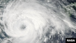 NASA's Aqua satellite captured this image of Typhoon Haikui as it was approaching China passed over Typhoon Haikui on August 6, 2012 at 0435 UTC (Credit: NASA Goddard MODIS Rapid Response Team)