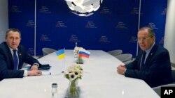 Сергей Лавров на встрече с Андреем Дещицей