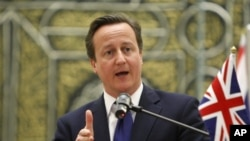 Perdana Menteri Inggris David Cameron mendesak para pemimpin Eropa menyelesaikan krisis utang (foto: dok).
