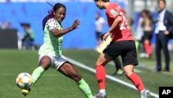 Francisca Ordega lors du match contre la Corée du Sud, le 12 juin 2019.