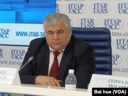 俄共国家杜马议员塔伊萨耶夫。(美国之音白桦拍摄)