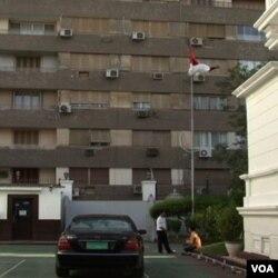 Tampak luar KBRI di Kairo (foto: dok).