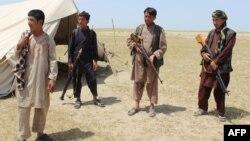 Члены афганского ополчения. Провинция Кундуз, 7 мая 2017 года.