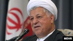 اکبر هاشمی رفسنجانی رئیس مجمع تشخیص مصلحت نظام
