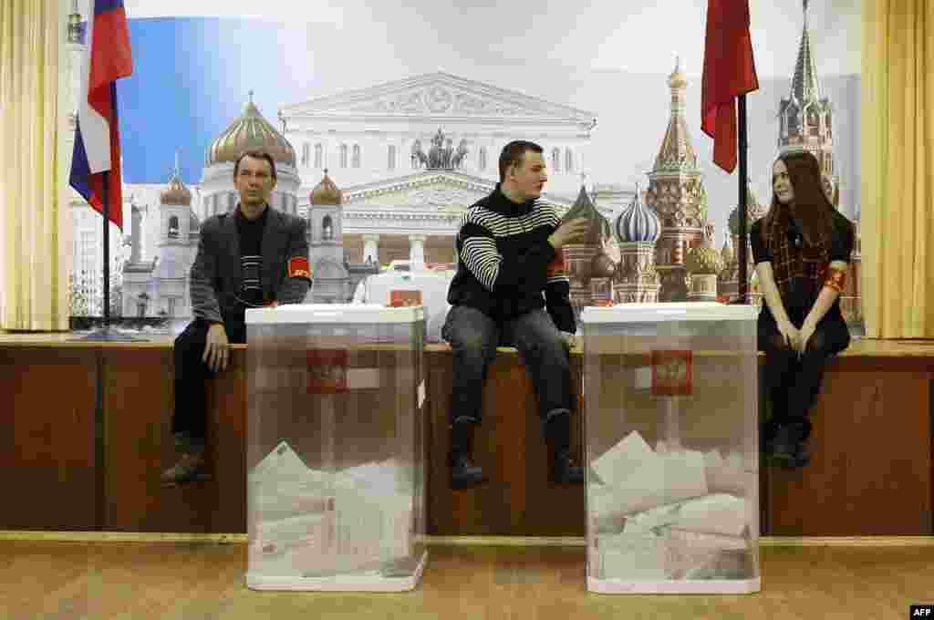 На виборчій дільниці під кінець дня... 4.03.2012.