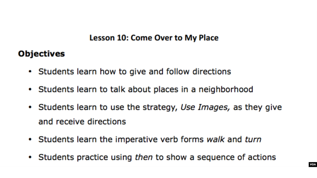 Lesson 10: Come Over to My Place