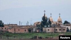 شام کے ایک عیسائی اکثریتی قصبے کا منظر جس پر داعش نے گزشتہ ہفتے قبضہ کرلیا تھا