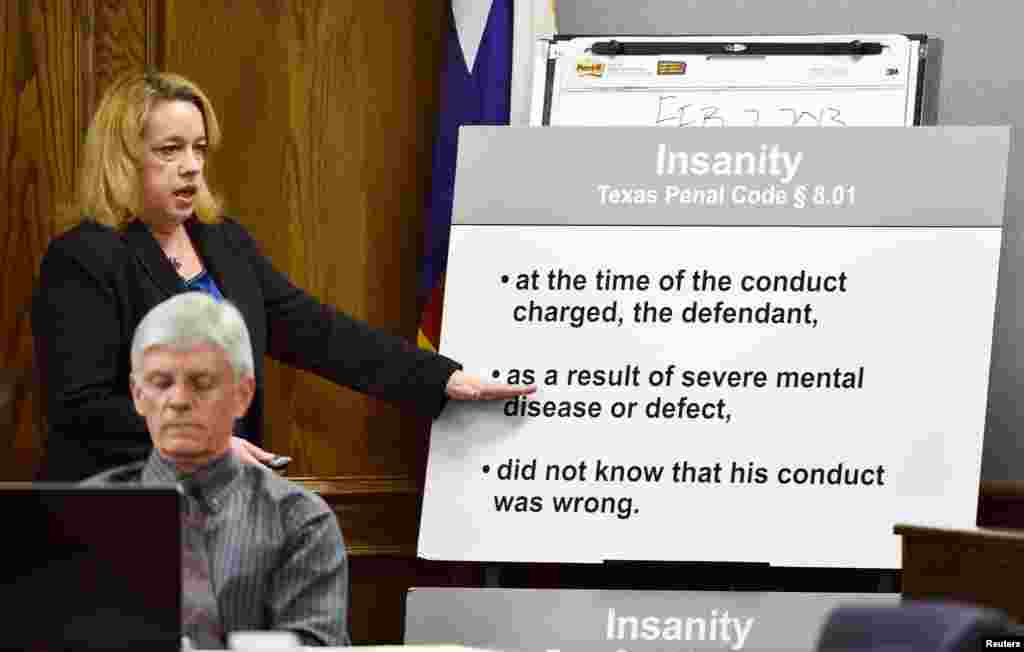 Texas Assistant Attorney General Jane Starnes during her closing arguments of the capital murder trial of former Marine Cpl. Eddie Ray Routh in Stephenville, Texas Feb. 24, 2015.