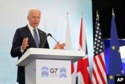 Joe Biden za vrijeme sastanka lidera zemalja G-7.