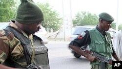Jami'an tsaro suna yin sintiri a jihar Borno dake arewa-maso-gabashin Nigeria.