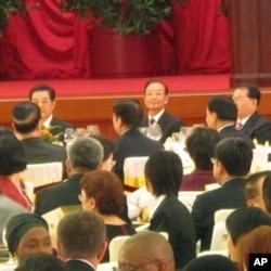 中国领导人出席国庆招待会