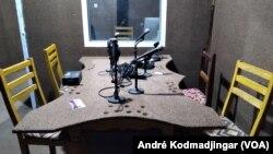 Grève des journalistes des radios privées au Tchad, le 1er décembre 2020. (VOA/André Kodmadjingar)