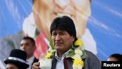 玻利维亚总统莫拉莱斯(资料照片)