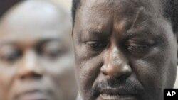 Mwakilishi wa umoja wa Afrika na waziri mkuu wa Kenya Raila Odinga.