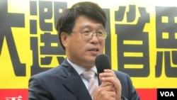 台湾民间智库太平洋发展协会的理事长游盈隆教授(美国之音张永泰拍摄)