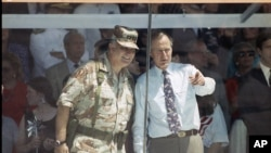 Gen. Norman Schwarzkopf and President Bush