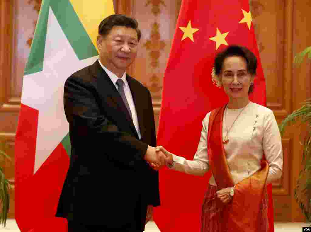 Chinese President Xi Jinping met Myanmar leaders including the State Counsellor Aung San Suu Kyi in Naypyitaw on Saturday, January 18, 2020