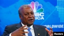 John Dramani Mahama, président du Ghana, mais également de la Cédéao