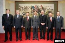 지난 2008년 12월 중국 베이징에서 마지막으로 열린 북 핵 6자회담 수석대표 회담. 북 핵 검증의정서 채택에 실패하면서 성과 없이 끝났다. (자료사진)