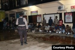 Polres Kota Jayapura memeriksa 66 orang simpatisan ULMWP seusai mereka menggelar aksi 16 Agustus 2019. (Foto Humas Polda Papua)