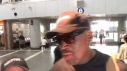 Dennis Rodman Arrives in North Korea