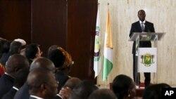 Alassane Ouattara, candidat à sa propre succession, Abidjan, 7 octobre 2015.