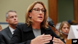 FILE - Mylan CEO Heather Bresch testifies on Sept. 16, 2016, before Congress over the cost of her company's EpiPens. Lawmakers are outraged at high prescription drug costs, without acknowledging the role Congress may have played.