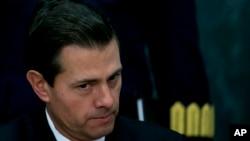 Presiden Meksiko Enrique Pena Nieto di Los Pinos, Rumah Kediaman Presidendi Mexico City, 23 Januari 2017 (Foto: dok).