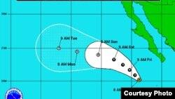 Ileana es el noveno ciclon que se ha formado en el Pacífico en el 2012. Aún no se han reportado daños graves. [Foto: Centro Nacional de huracanes de EE.UU.]
