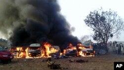El resultado de un ataque terrorista en Nigeria en mayo de este año.