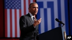 President Barack Obama. Stavros Niarchos, Athens