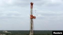 Anjungan pengeboran minyak Apache Corp di Texas Barat. (Foto: dok.)