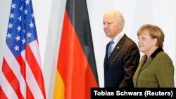 Angela Merkel i Joe Biden, tada potpredsjednik SAD, Berlin, 1. Februar 2013.