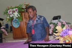 Theo Hesegem, aktivis HAM Pegunungan Tengah Papua. (Foto: Dokumen Pribadi)