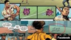 """Karya Ardian Syah yang dianggap kontroversial karena menyisipkan beberapa pesan dalam Komik Marvel terbaru """"X-Men : Gold #1"""" (Sumber: Facebook Ardian Syah/Arham Rasyid)"""