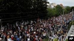 Manifestation en Grèce contre les licenciements dans la fonction publique