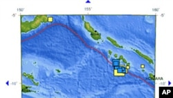 Location of Solomon Islands earthquake