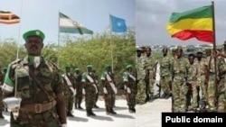 Binh sĩ thuộc lực lượng AMISOM và Ethiopia