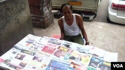 Các nhật báo độc lập đã được bày bán tại các sạp báo ở Miến Điện nhờ các đạo luật mới về tự do