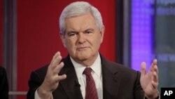 លោក ញូត៍ ឌ្យីនហ្គ្រិច (Newt Gingrich) អតីតប្រធានសភាតំណាងរាស្ត្រអាមេរិក។