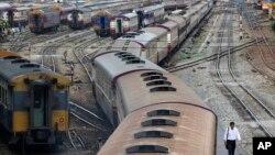 Fasilitas kereta api di Bangkok, Thailand (foto: dok). Thailand berencana membangun jalur kereta api dari Bangkok menuju China.