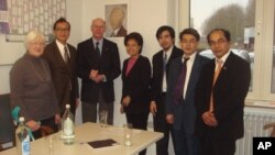 Sam Rainsy meet with Dr. Norbert Lambert, president of Parliament of Germany.