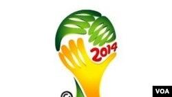 Logo Piala Dunia 2014 di Brazil.