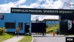 """En el Complejo Policial Evaristo Vásquez, conocido como """"El nuevo Chipote"""" se encuentran detenidos la mayoría de los opositores nicaraguenses. Foto: Houston Castillo - VOA."""