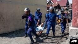 Des policiers à Goma en RDC le 27 décembre 2018.