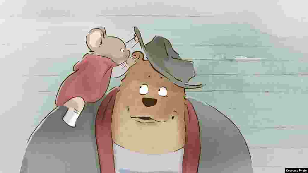 """The French-Belgian film based on a series of children's books of the same name, """"Ernest & Celestine,"""" was nominated for best animated feature film. (Oscars.org)"""