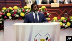 FILE - Congo's President Joseph Kabila, seen in this July 19, 2018 file photo, has said he will support former Interior Minister Emmanuel Ramazani Shadary in the upcoming presidential election.